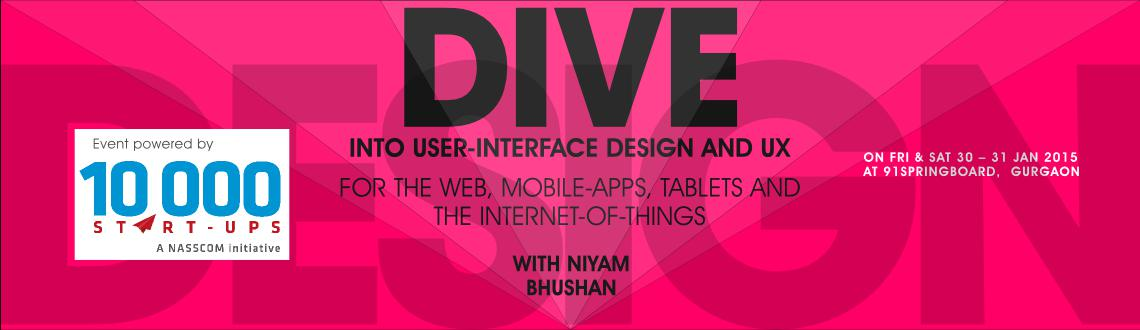 Two-day workshop on user-interface design and user-experience. For mobile-apps, tablets, website-designs, and Internet-of-things (IoT). Gurgaon, India