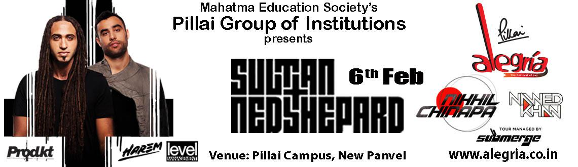 Sultan plus Ned Shepard  Nikhil Chinapa at Pillai College on 6th Feb