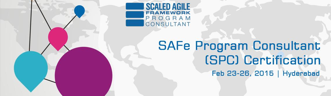 Book Online Tickets for SAFe Program Consultant (SPC) Certificat, Hyderabad.  http://www.knowledgehut.com/agile-management/safe-program-consultant-spc-certification-hyderabad    Overview: Organizations that want to adopt Lean/Agile principles at an enterprise scale turn to the Scaled Agile Framework or