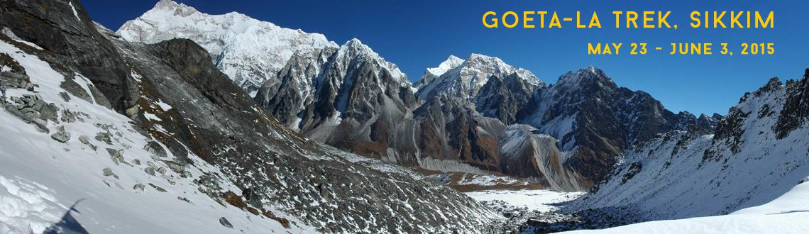 Book Online Tickets for Goeta-la trek, Sikkim, Pune. Let\\\'s Explore North-East Area. Goeta-La Trek(AKA Goechala Trek).In Sikkim, the Goecha La trek takes the trekker up-close for a spectacular view of the mighty Kanchenjunga amidst a majestic panorama of the other lesser Himalayan giants within its r