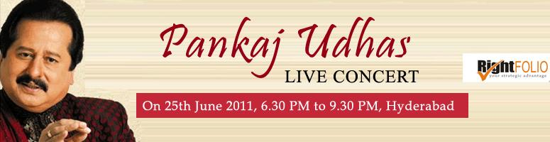 Book Online Tickets for Pankaj Udhas Live Concert on 25th June 2, Hyderabad. 25% Discount available ( Airtel )