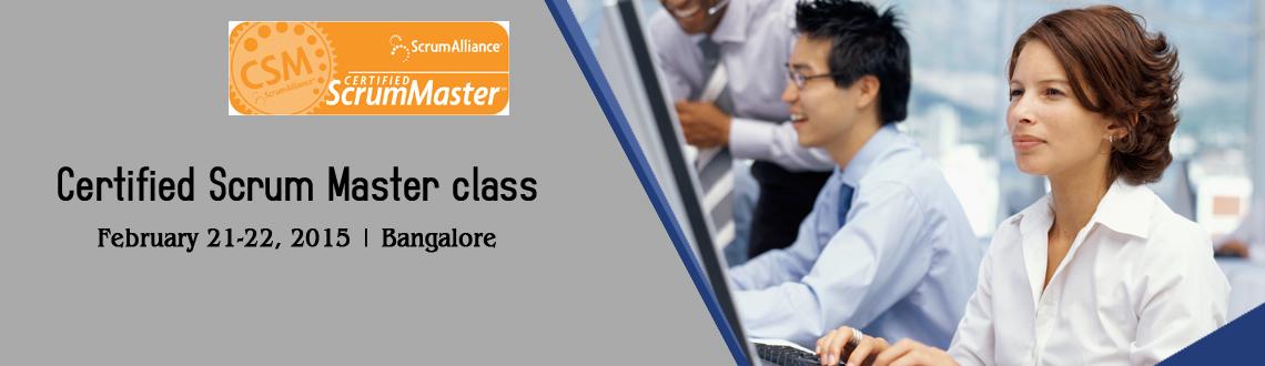 Certified Scrum Master class - Bengaluru- February 2015