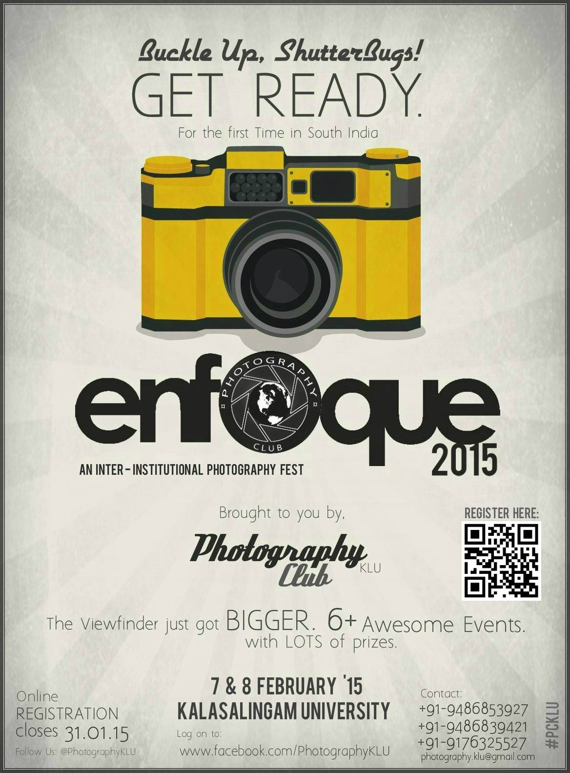 Book Online Tickets for Enfoque 15, Madurai. 