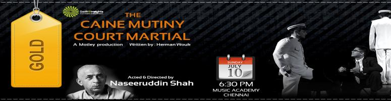 Book Online Tickets for The Caine Mutiny Court Martial - A Play , Chennai. Swift@Insights presents to you one of the finest court room dramas ever staged. Stay tuned for more info.During  the Second World War, on-board a small insignificant ship in the U.S.  Pacific Fleet, an event occurs unlike any that the United States N