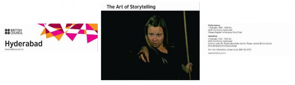 Book Online Tickets for Story telling Performance, Hyderabad. Greetings from British Council!
