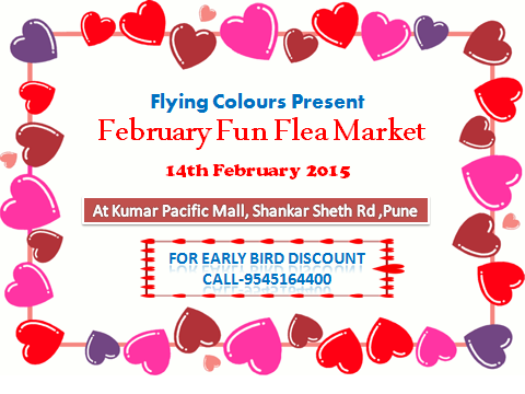 February Fun Flea Market at Kumar Pacific Mall on 14th Feb 2015