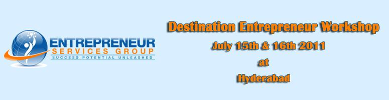 Book Online Tickets for Destination Entrepreneur Workshop, Hyderabad. \\\