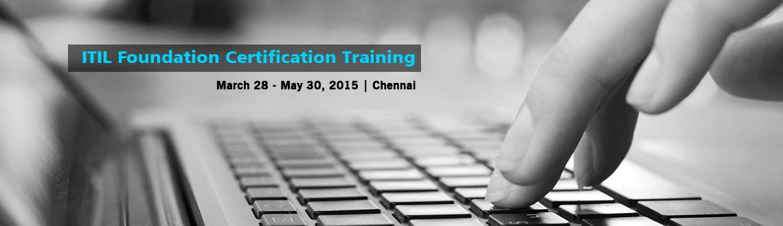 Book Online Tickets for ITIL Foundation Certification Training i, Chennai. 