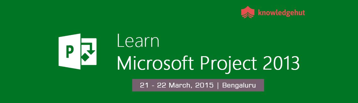 Managing Projects with Microsoft Project 2013 in Delhi NCR