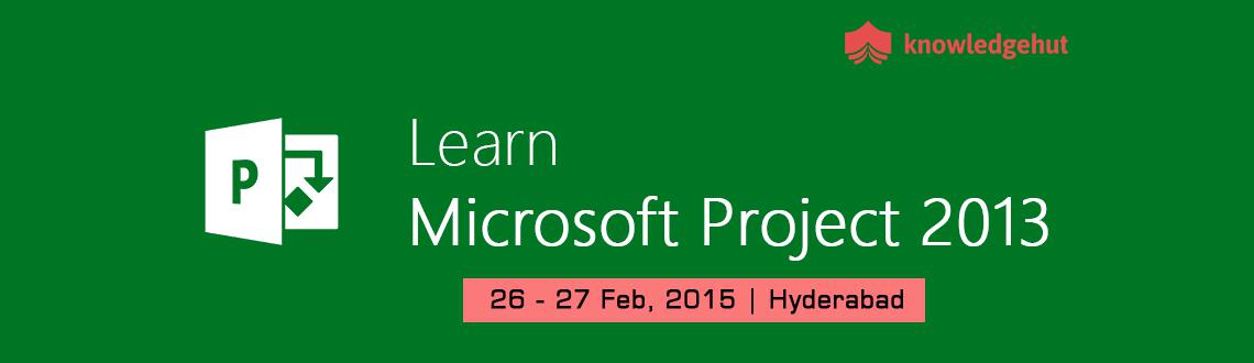 Managing Projects with Microsoft Project 2013 in Hyderabad