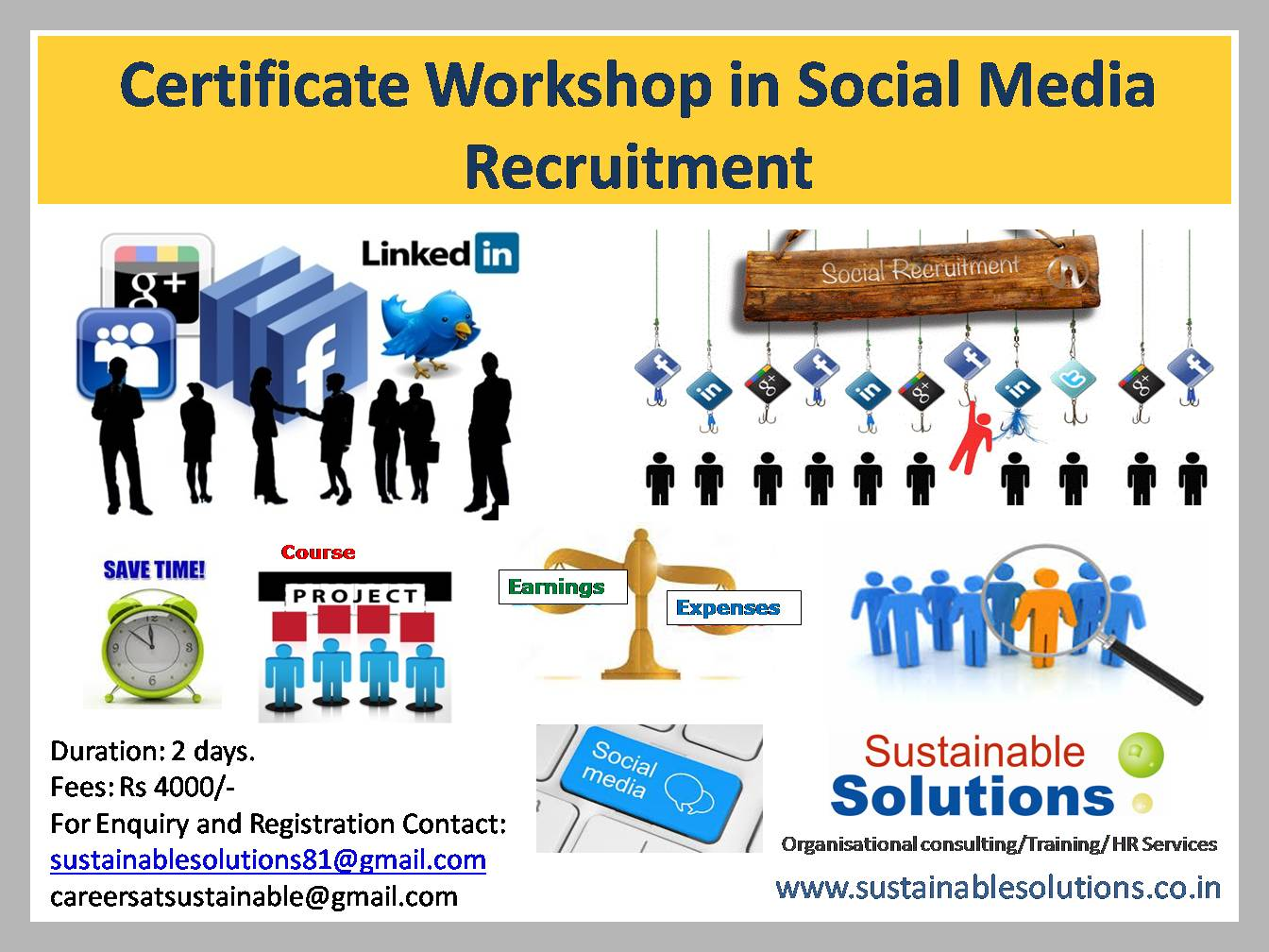 Social Media Recruitment Certificate Workshop Copy Pune