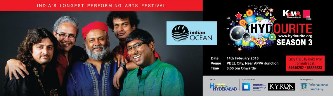 Book Online Tickets for Indian Ocean Live, Hyderabad. INDIAN OCEAN LIVE - Hydourite Season 3