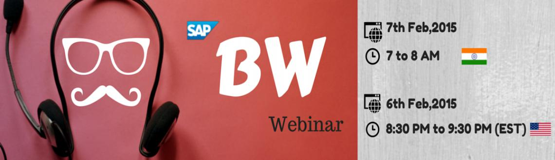 Book Online Tickets for Webinar invitation on SAP(BW) Business W, . To provide an overview on SAP Business Warehouse, future roadmap of BW,other skills needed for a successful career in BW, possible career paths in BW field. SAP BW Integration with BO, HANA & BODS. Job opportunities forBW consultants in the prese
