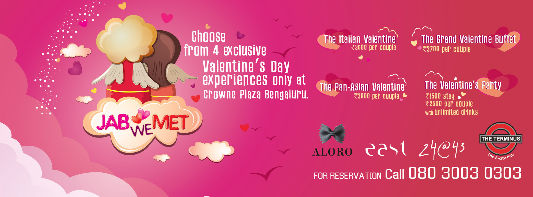 Crowne Plaza - Jab We Met V-Day Party