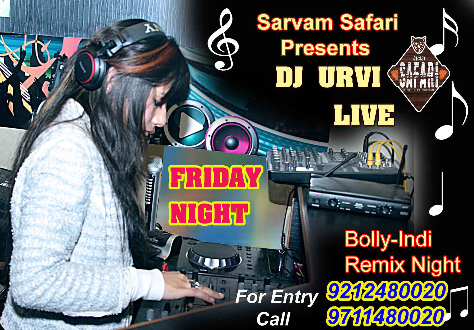 Bolly-Indi Remix Nite with DJ URVI Live Performance