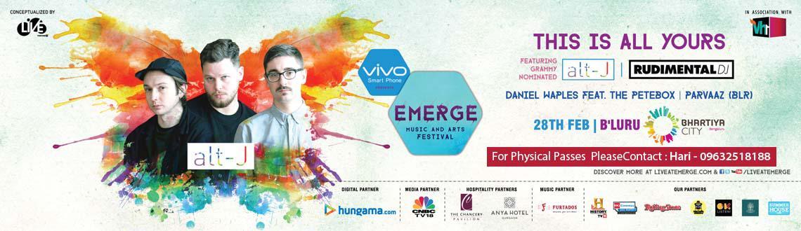 vivo Presents Emerge Music and Art Festival Bangalore