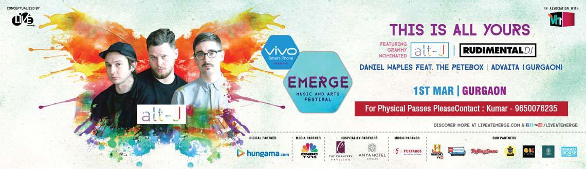 vivo Presents Emerge Music and Art Festival Gurgaon