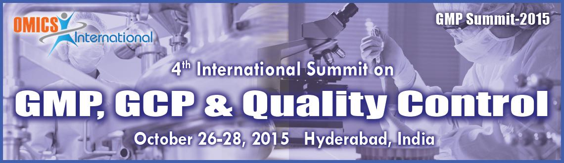 Book Online Tickets for 4th International Summit on GMP, GCP  Qu, Hyderabad. The OMICS Group Pharmaceutical Conferences covers on all aspects of the pharmaceutical sciences, manufacturing, quality with strong emphasis on originality and scientific quality. OMICS Group is currently bringing forth the 4th International Sum