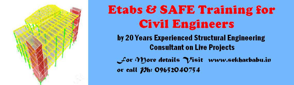 Book Online Tickets for Etabs Training in Chennai , Chennai. Etabs & SAFE Training in Chennai from 12th March by 20-years Experienced Structural Consultant on Live Projects