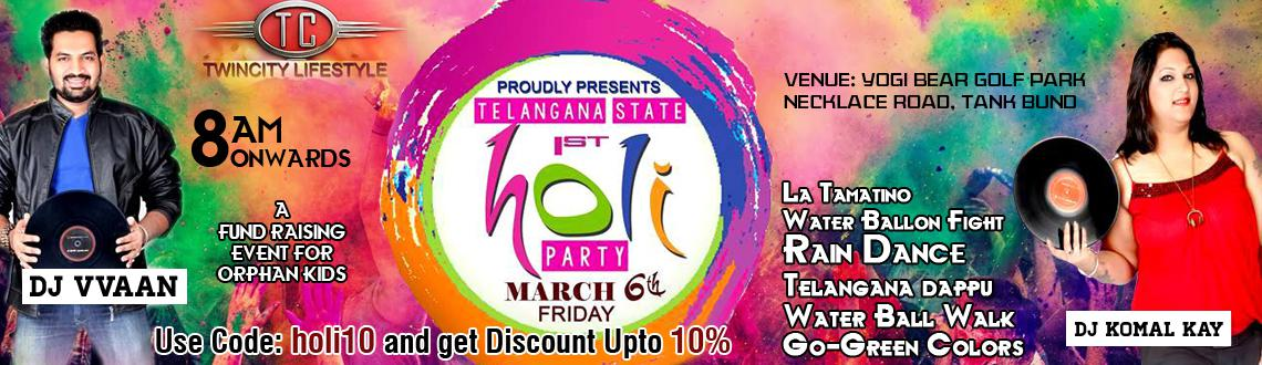 Holi Party 2015 - Telangana State 1st Colourful Celebrations