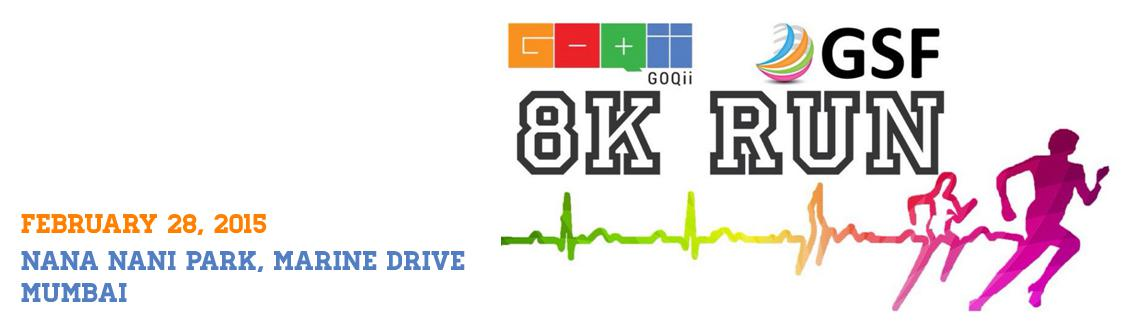 Book Online Tickets for GSF GOQii 8K Run, Mumbai.  