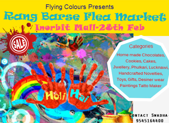 Rang Barse Flea Market @ Inorbit Mall on 28th Feb 2015
