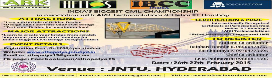 WORKSHOP ON BRIDGE DESIGN BY ARK TECHNOLOGIES BY STHAPATYA JNTUH