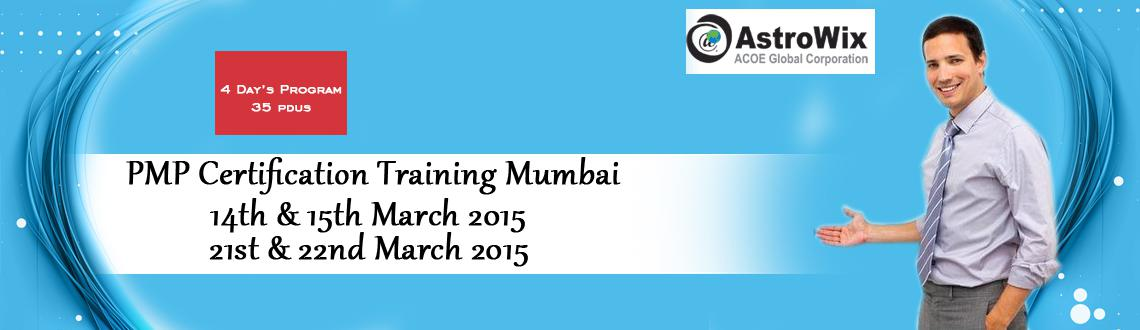 Book Online Tickets for Boost your intellect with PMP Certificat, Mumbai. AstroWix is organizing a PMP Certification Training Mumbai workshop for a period of 4 days i.e. 14th & 15th March 2015, 21st & 22nd March 2015. 