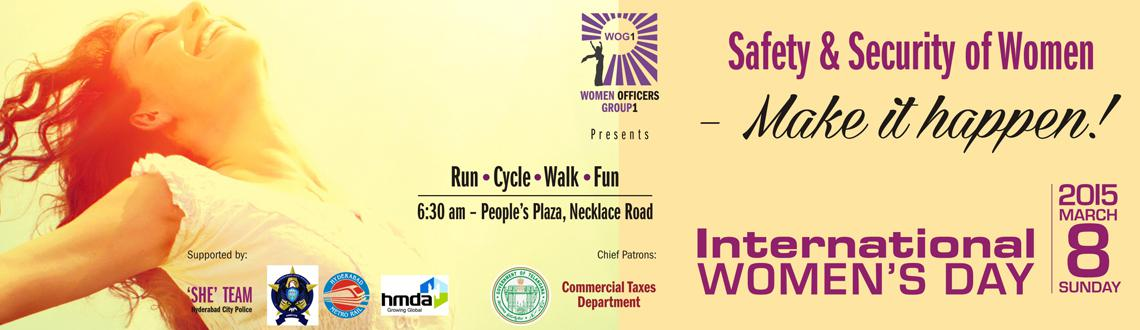 Run, Cycle, Walk to mark safety and security of Women on International Women's Day. Book free tickets for the event only at Meraevents.com