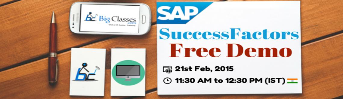 Book Online Tickets for Attend Free Demo on SAP SuccessFactors T, . About SAP SuccessFactors: SuccessFactors is a leading cloud based HR Solution.  Register Today For FREE DEMO : http://goo.gl/4Bimy3  About Trainer: >> 10 years experience in SAP HR and SuccessFactors >> Cert