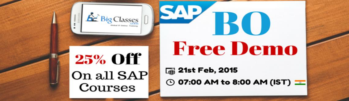 Attend Free Demo on SAP BO Tomorrow