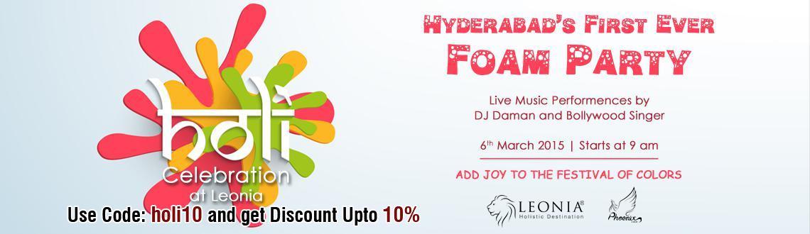 Holi Celebrations at Leonia, Hyderabad.