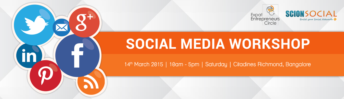 Book Online Tickets for SCION - Social Media Workshop 14th March, Bengaluru. Learn Proven Social Media Marketing Strategies That Will Transform Your Business Online.