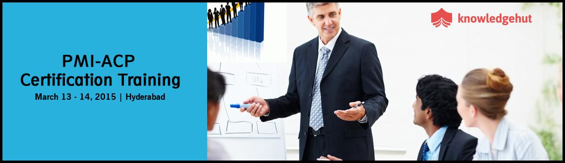 Book Online Tickets for PMI-ACP Certification Training in Hydera, Hyderabad.  http://www.knowledgehut.com/project-management/pmi-acp-certification-training-Hyderabad  Course Overview:   Agile is a general methodology applicable to project management and product development, and is increasingly used tod