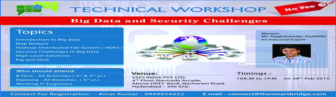 Free Workshop on Big Data and Security Challenges