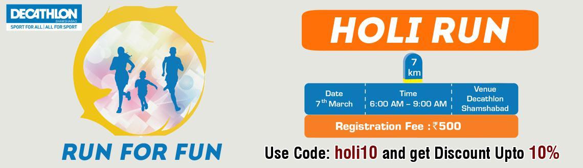 Holi Run 2015 at Decathlon Hyderabad