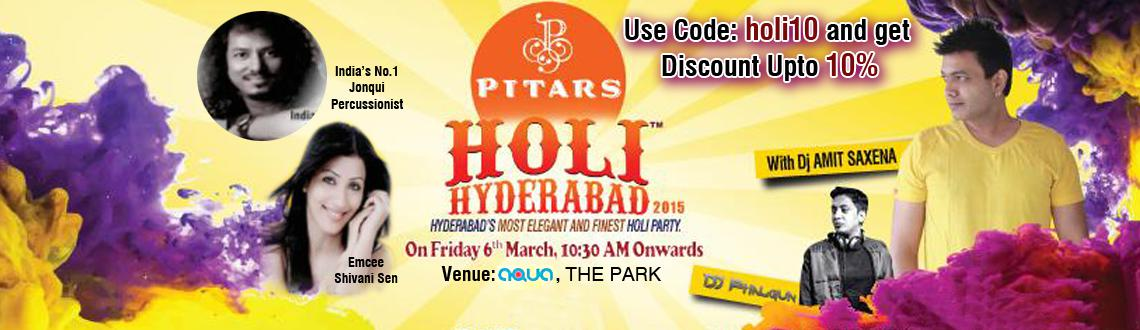 Pitars Holi Hyderabad 2015 at The Park