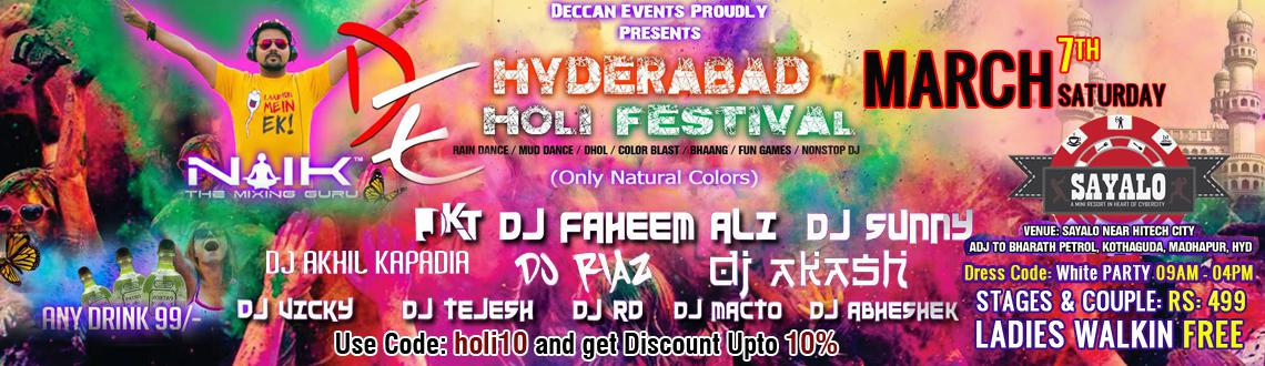 Hyderabad Holi Festival 2015 at Sayalo