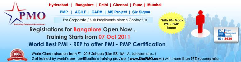 PMI-PMP Certification Training with MS Project 2010 on Oct 07,2011 - NucleusGroup(3430)