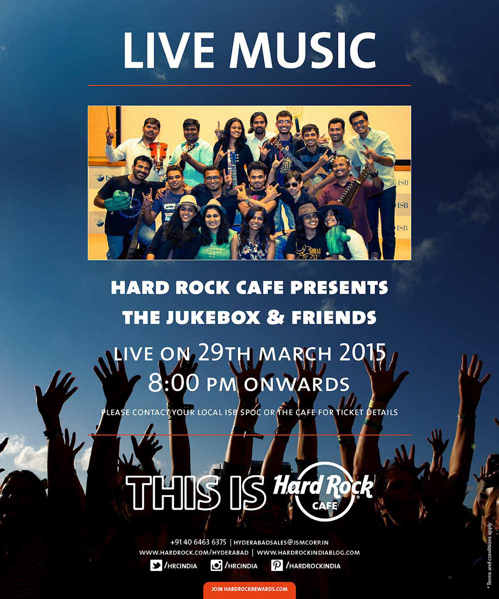 Book Online Tickets for Farewell ISB by Music club @ hrc, Hyderabad. Music club of ISB presenting the farewell to the class at HRC.