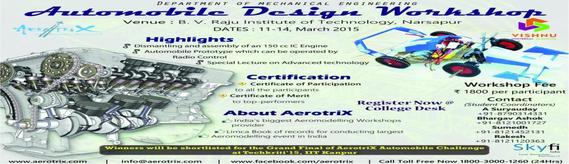 Book Online Tickets for Automobile Design Workshop, Hyderabad.