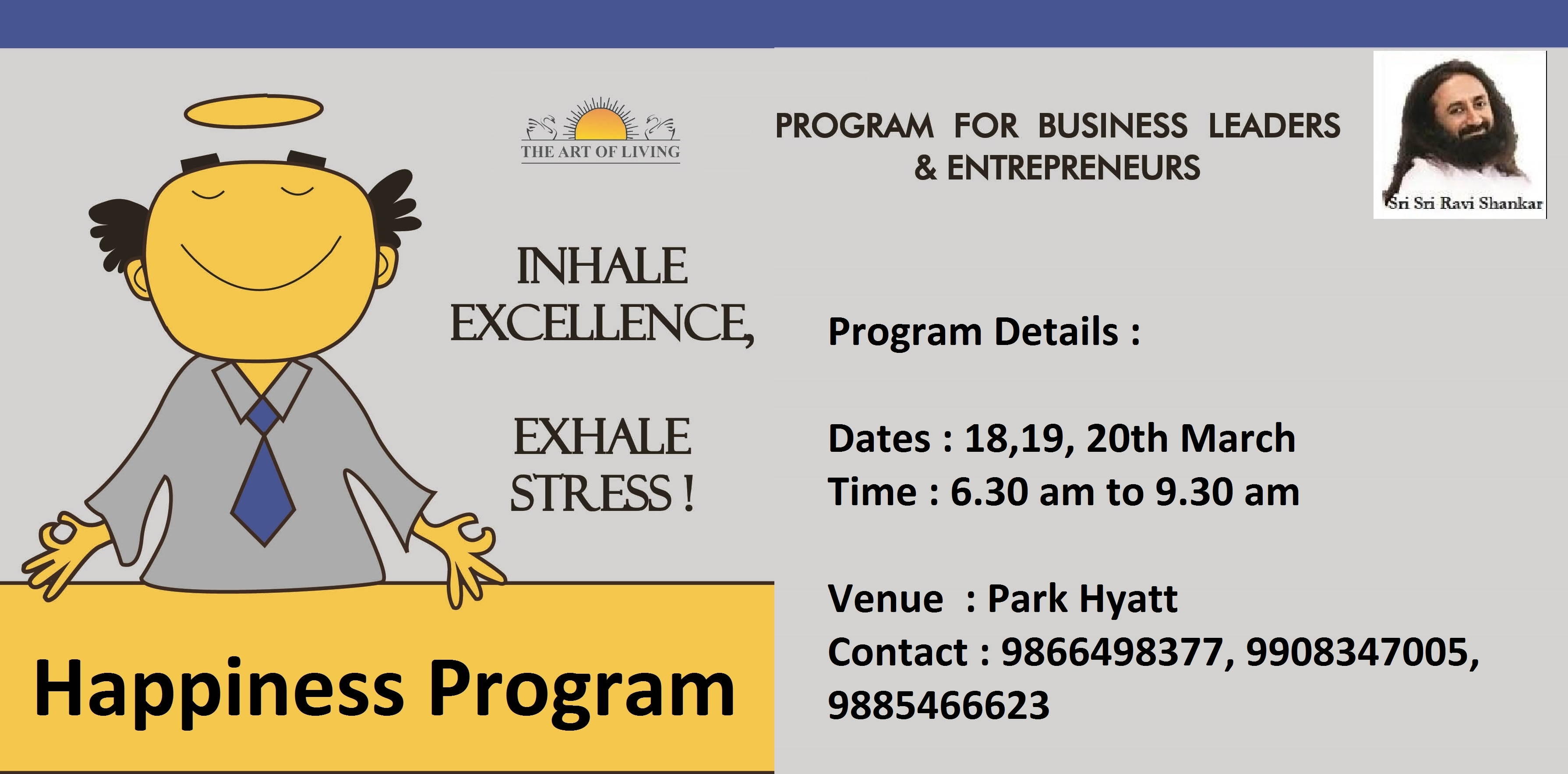 Art Of Living Happiness Program for Decision Makers