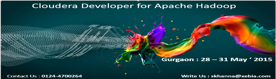 Book Online Tickets for Cloudera Developer Training l Gurgaon (2, Gurugram. Course OverviewThis four-day training course is for developers who want to learn to use Apache Hadoop to build powerful data processing applications.  Prerequisites:This course is appropriate for developers who will be writing, maintain