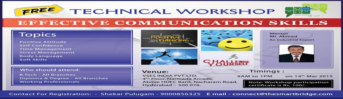 Book Online Tickets for Free Workshop on Effective Communication, Hyderabad.