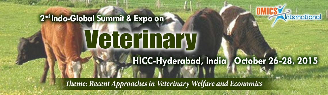 Book Online Tickets for 2nd Indo-Global Summit and Expo on Veter, Hyderabad. OMICS International feel proud and honored in inviting the contributors across the globe to its premier 2nd Indo Global Summit and Expo on Veterinary (Indian Veterinary-2015) going to be held from October 26-28, 2015 at HICC, Hyderabad, Ind