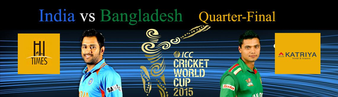 The Bangladeshi Tigers against The Men in Blue match