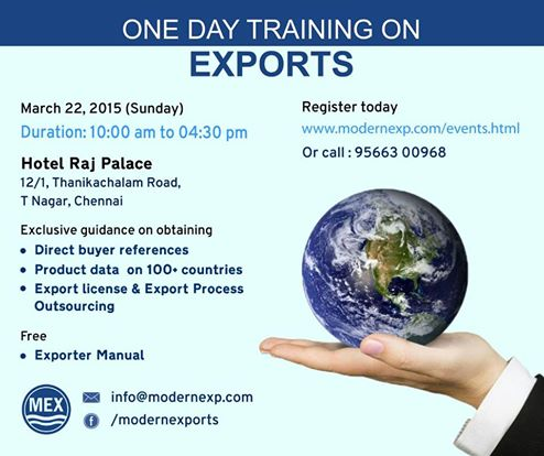 Be Smart.Be Exporter - One day Training Programme