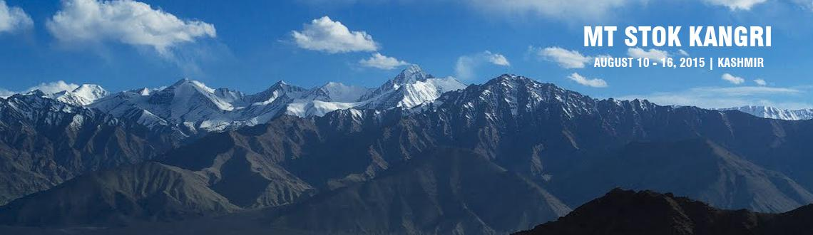 Book Online Tickets for Mt Stok Kangri, Leh. Mt Stok Kangri, a 6121 meters peak is one of the main peaks of the Zanskar range, situated in the region of Ladakh. The south ridge offers an exhilarating climb, although straightforward, the route is challenging and interesting, providing stunning v