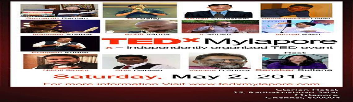 Book Online Tickets for TEDxMylapore, Chennai. TEDxMylapore is an independently organized TED event operated under the licence issued by TED. TEDx is a program of local, self-organized events that bring people together to share a TED-like experience. At a TEDx event, TEDTalks video and live
