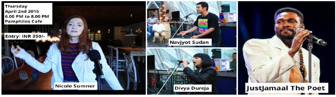 Delhi Poetry Slam Presents Urban Action Featuring JustJamaal The Poet